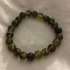 Jewelry - Olive Fire Agate semiprecious charm bracelet